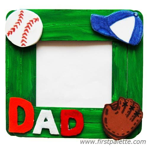 Craft Stick Photo Frame for Father's Day