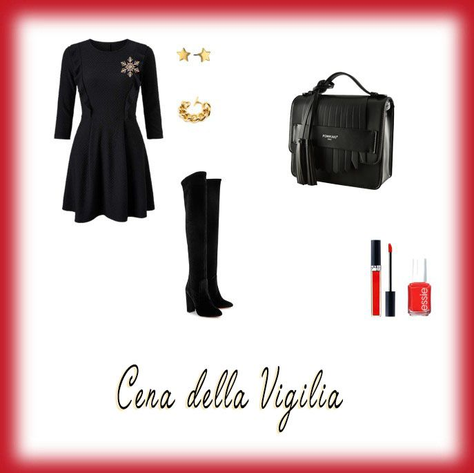 What to wear at #ChristmasNight? a little black dress, a new pair of over the knee boots and a #Pomikaki bag. Little, chic and so cool  #LittleBlackDress @Pomikaki #MadeInItaly  Price: 138,00€