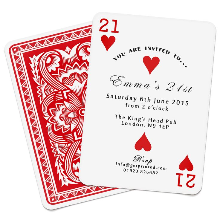 Personalised Playing Card Invitations Invites Birthday Wedding Save the Date Party Casino Las Vegas Poker Deck by GiftBase on Etsy https://www.etsy.com/listing/241041957/personalised-playing-card-invitations