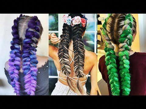 Cheveux bricolés Hacks Chaque personne paresseuse devrait savoir! Coiffures rapides et faciles pour l'école! - YouTube #Diyhairstyles - #bricole...