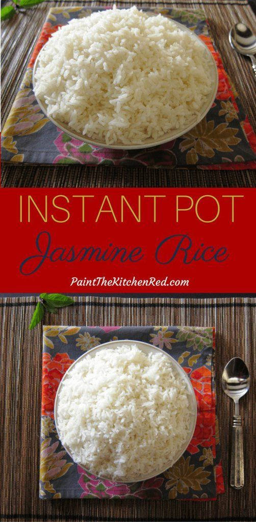 Fragrant Instant Pot Jasmine Rice - Paint The Kitchen Red