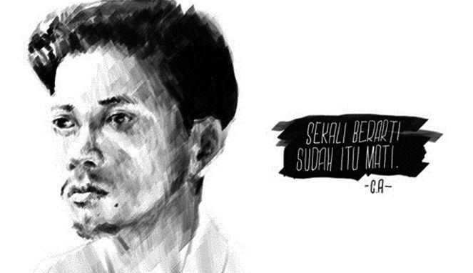 Puisi Chairil Anwar - Siapa yang tak mengenal sastrawan puisi di Indonesia ini? Ya, kali ini kita akan membahas puisi Chairil Anwar yang sangat terkenal.
