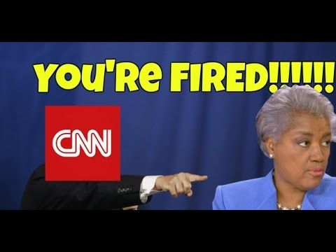 DNC Chairwoman Donna Brazile has been FIRED from CNN!!!!!