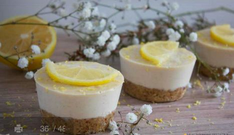 Zesty #Lemon #Cheesecake - cashews, #almonds, #coconut cream, malt syrup - come find this recipe and more at The Healthy Mama Mag