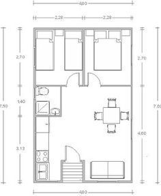 Planos Casas de Madera Prefabricadas: Casa de tronco de 36 m2 Cod.00128