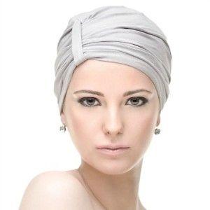 Turbante Ribbon listo para colocarse, especial para la perdida del cabello por quimioterapias.