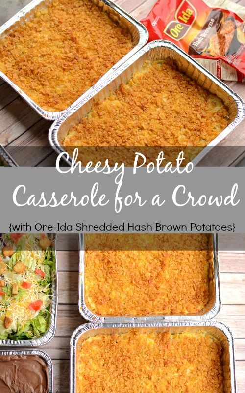 Cheesy Potato Casserole for a Crowd #OreIdaHashbrown #shop #cbias