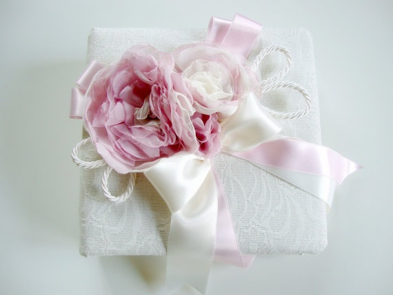 La Vie en Rose wedding birth Photo Album White and Pink by Lovalu, $105.00