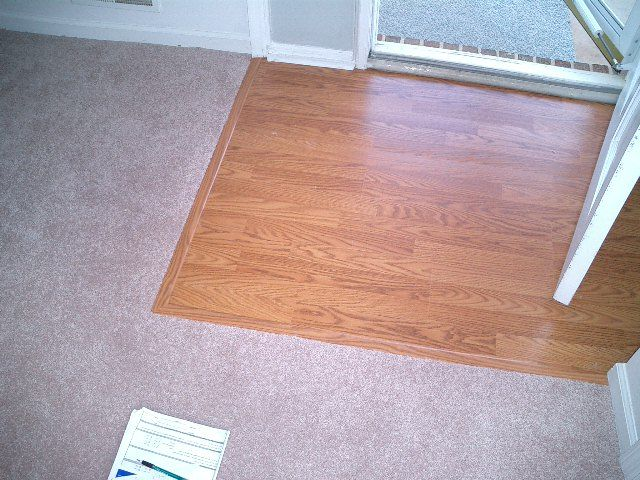 Laminate Flooring Transition To Tile : ... what our entryway looks like wood floor to carpet transition see more