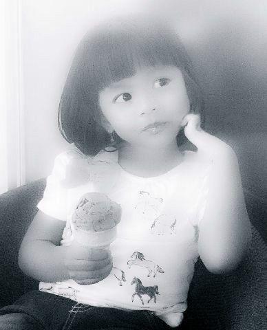 with ice cream