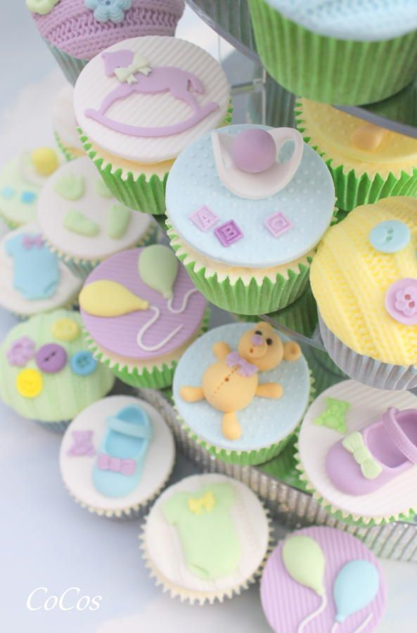 baby shower cupcakes  by Lynette Brandl                                                                                                                                                      More