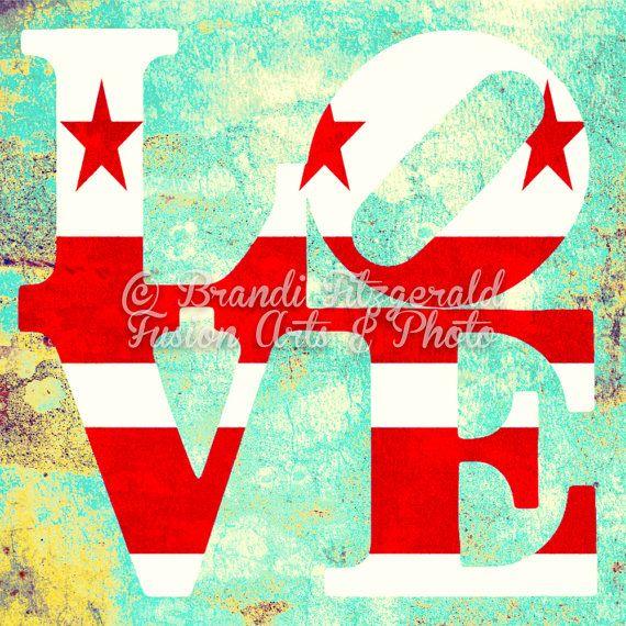 Love Washington DC State Flag Wall Decor by BrandiFitzgerald, $17.99