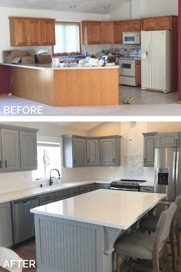 Before After With Images Kitchen Transformation