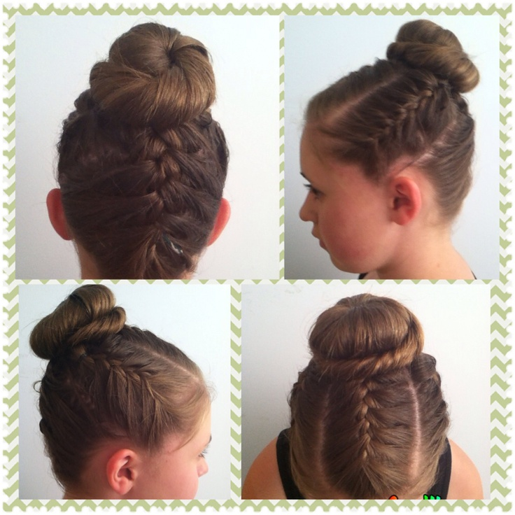 High Bun Hairstyles With Braids 61