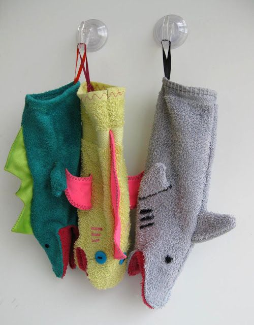 Washcloth Hand Puppets - So You Think You're Crafty
