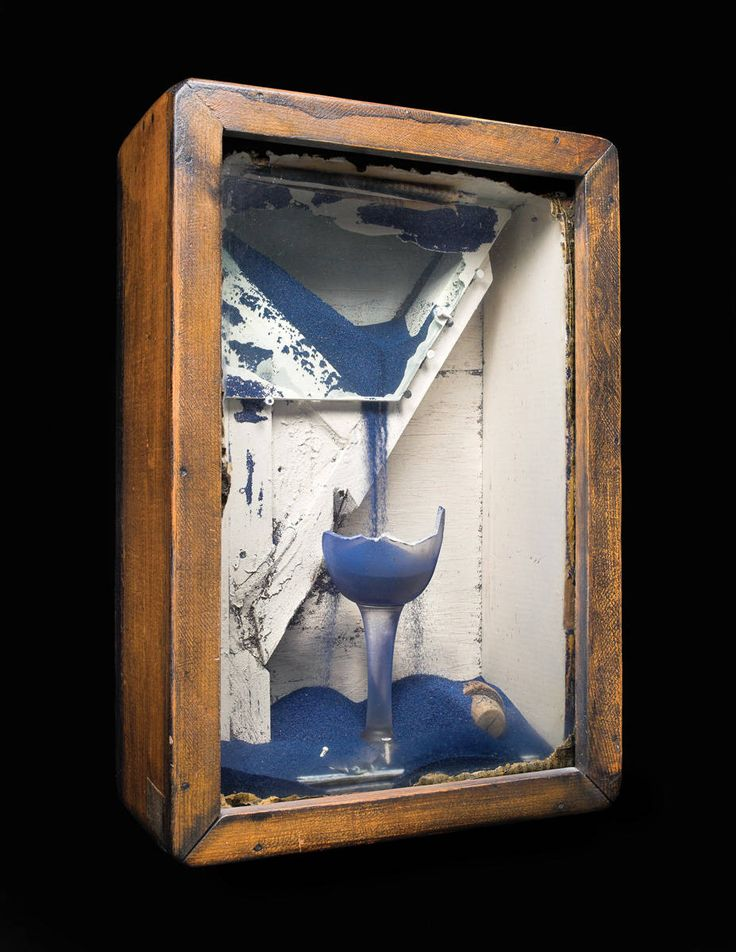 Joseph Cornell (1903-1972), untitled (blue sand fountain, about 1953)