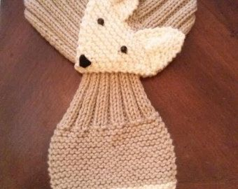 Stretch Baby/Toddler Adjustable Fox Scarf Hand by QuiltNCrochet