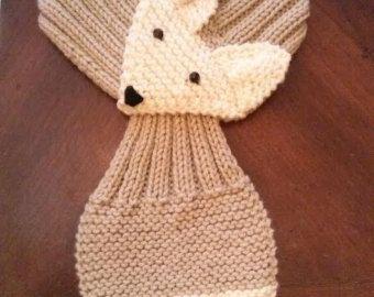 Stretch Kids /Toddler Adjustable Fox Stripe Scarf by QuiltNCrochet