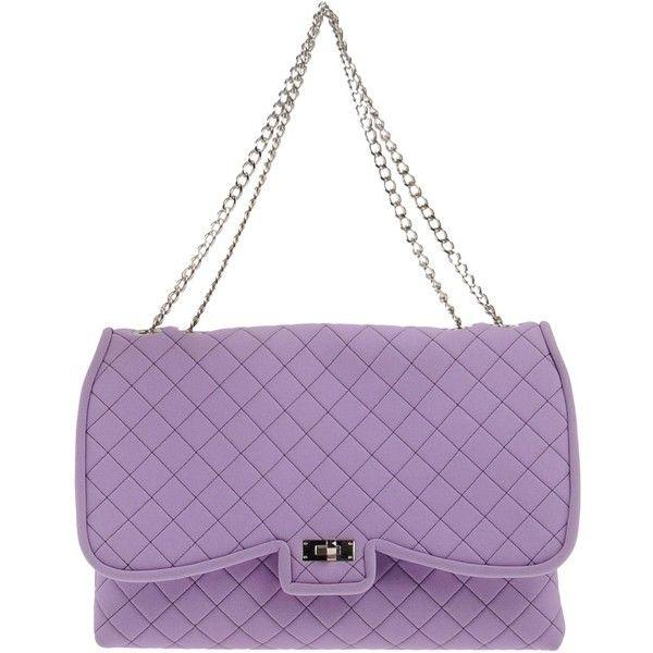 Leghilā Handbag ($125) ❤ liked on Polyvore featuring bags, handbags, lilac, logo bags, purple purse, purple bags, lilac purse and man bag
