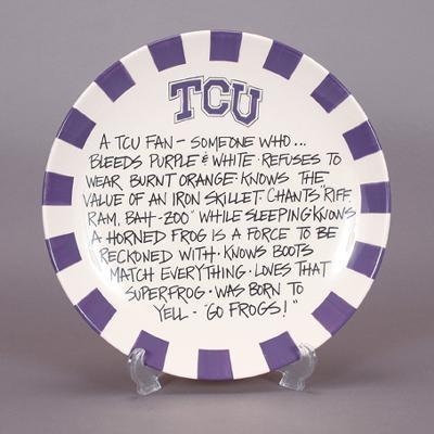 TCU Horned Frogs Ceramic Fan Definition Plate