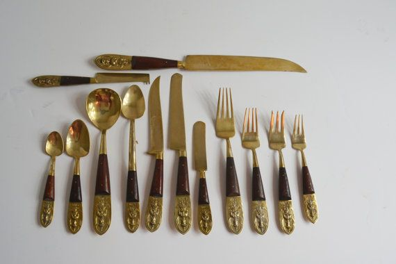 Bronze Silverware Vintage Siam Silverware 90 by Vintassentials