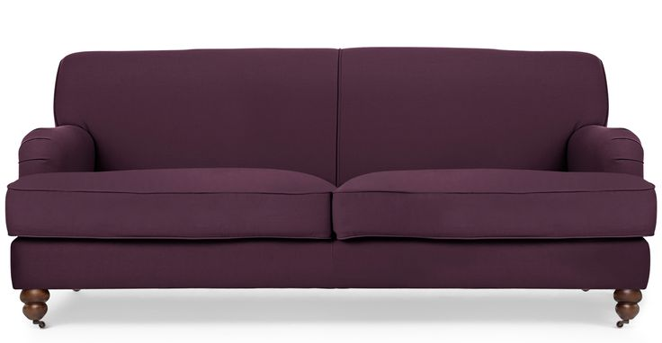 Orson 3 Seater Sofa, Pansy Purple