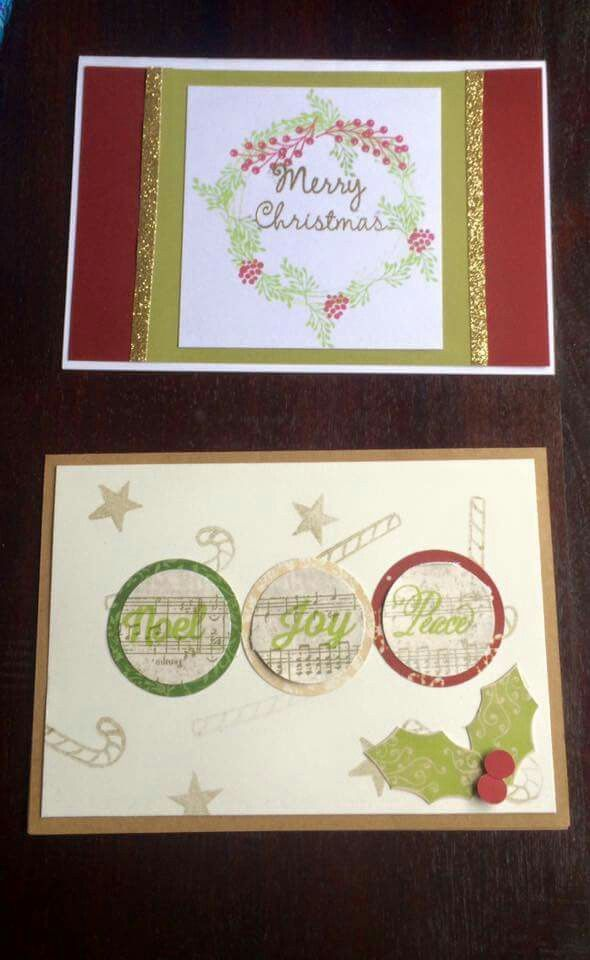 Xmas cards made by Triple S