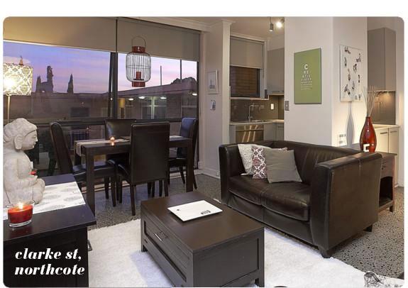 Northcote flat living room