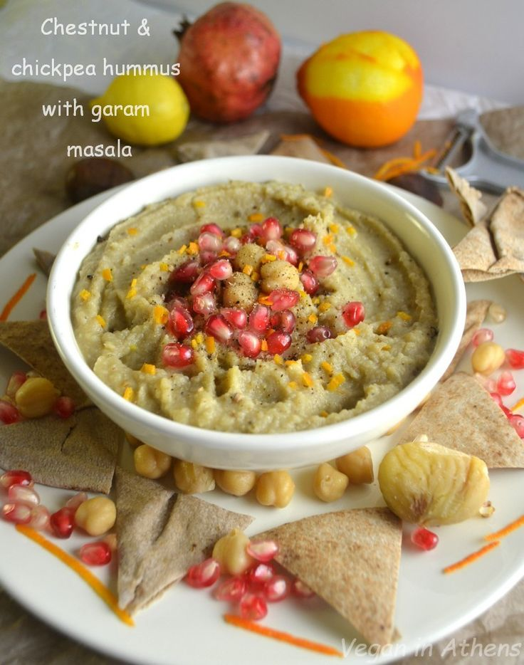 Chestnut & chickpea hummus with orange and garam masala – fat free