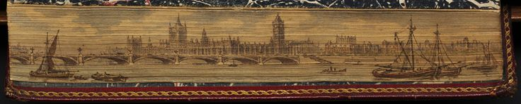 Fore-edge painting http://en.wikipedia.org/wiki/Fore-edge_painting