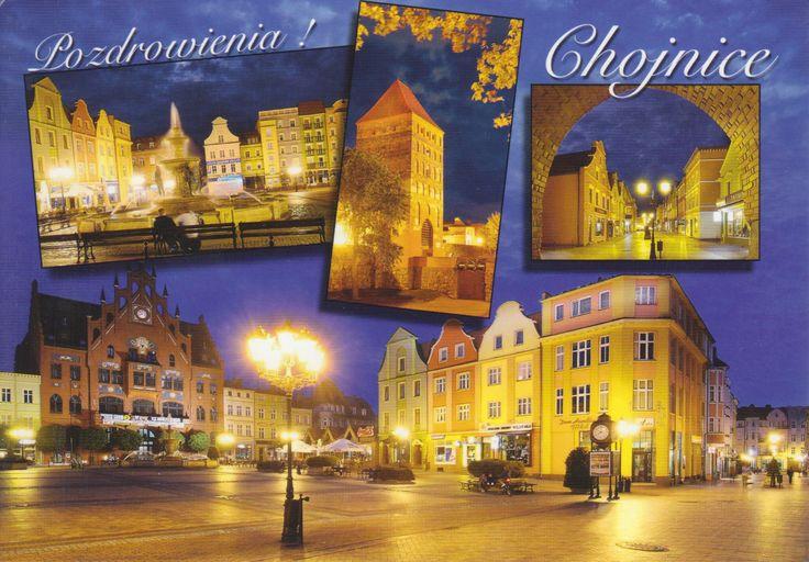 Ville de Chojnice - Carte reçue de Pologne - Distance: 1,379 km (857 miles) - Travel time: 27 days