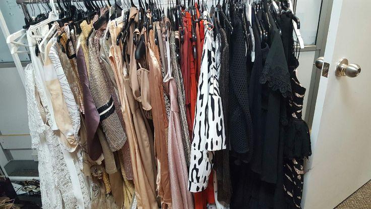 Getting wardrobe ready for Charlotta's shoot in Hawaii