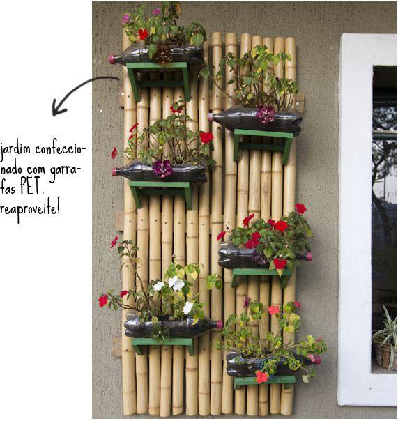 Jardim e horta vertical -