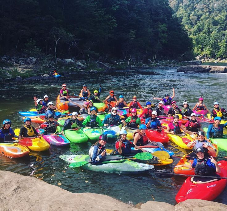 Annual Ladies on the Lower Gauley fundraiser for @americanwhitewater in West Virginia.
