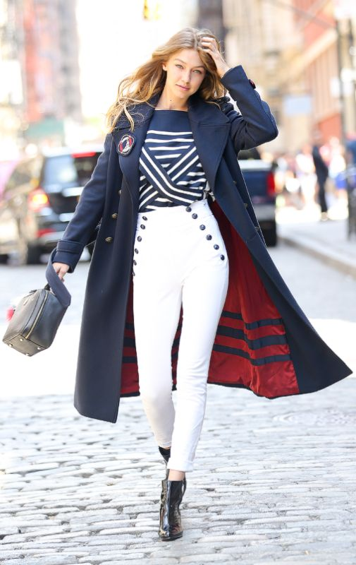 Gigi Hadid ♥ on set of her photoshoot for Tommy Hilfiger's new editorial shoot…