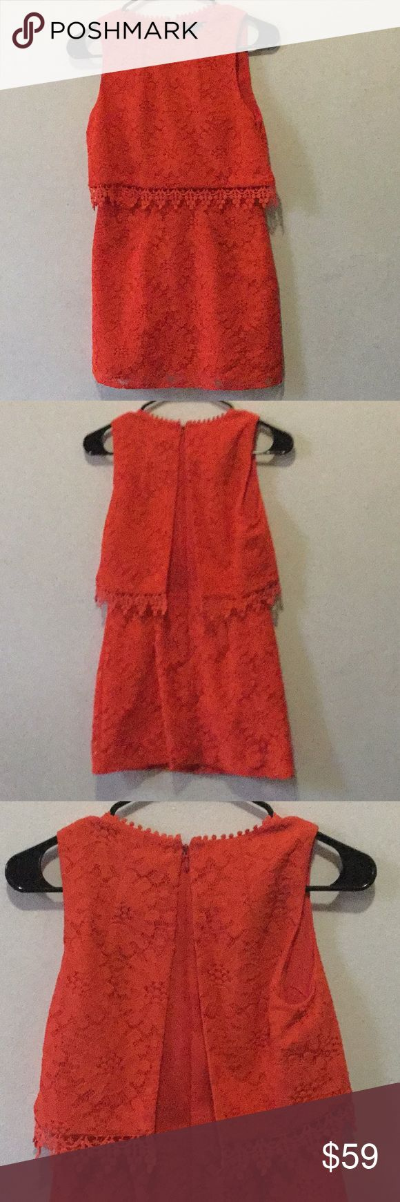 Topshop petite orange dress size 2 mini Almost new orange size 2 mini Topshop PETITE Dresses Mini