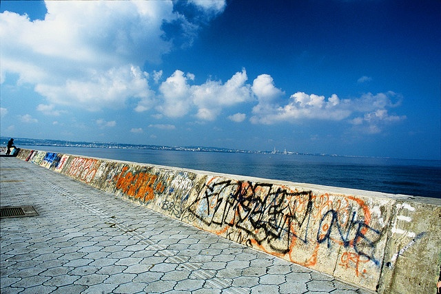 Sunabe Sea Wall, Okinawa, Japan