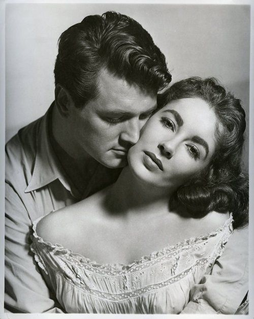 Rock Hudson & Elizabeth Taylor, publicity shot for Giant (George Stevens, 1956)  via fabulousflights & always-fair-weather)
