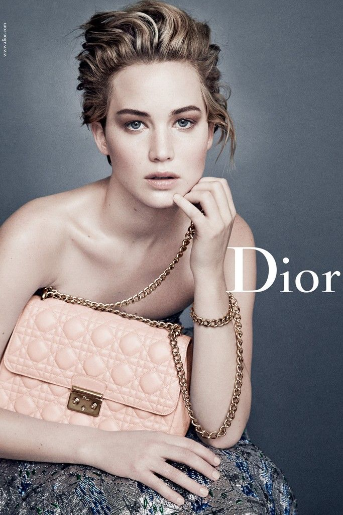 Jennifer Lawrence in the Dior campaign. Too bad she's barely recognizable... FYI @Teri McPhillips Modisette (Indy Ink)