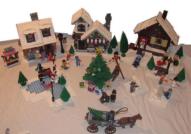 Lego winter village scene