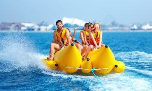 Groupon - Banana Boat Ride for One or Two, or Banana Boat Ride and Jet Boat Ticket from Jet Boat Miami (Up to 43% Off) in Miami. Groupon deal price: $30