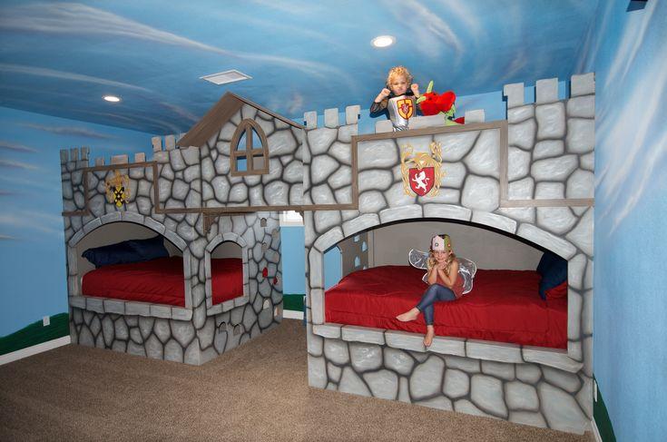 Castle Bunk Bed 2 Queen Beds On Bottom 2 Queen Beds On