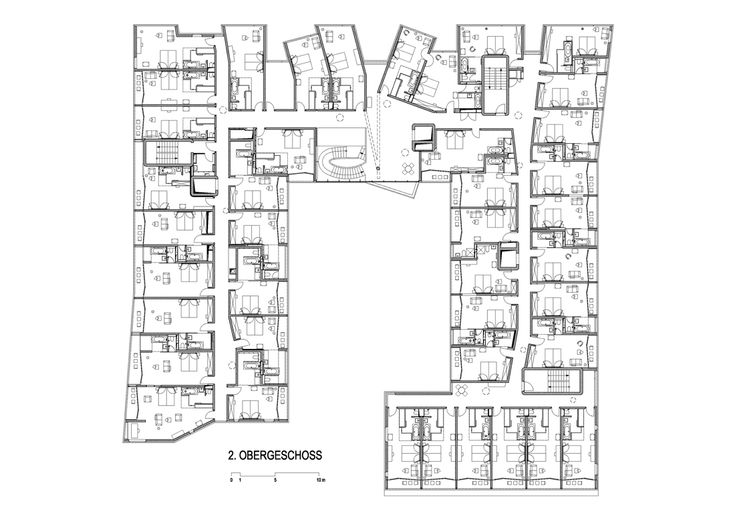 Steven Holl - 2nd floor plan - Loisium Hotel
