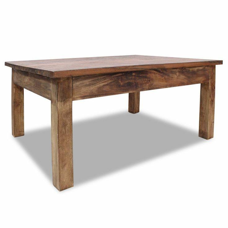 Table Basse En Bois Massif De Recuperation 98x73x45 Cm W3a4