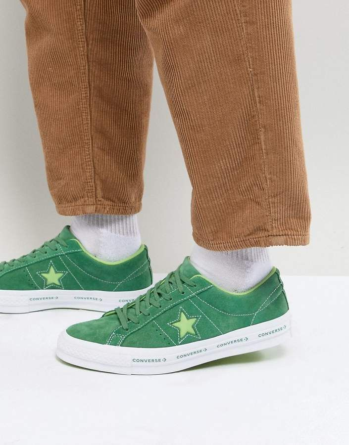 The Best Men s Shoes And Footwear   Converse One Star OX Sneakers In Green  159816C 45c7640c2