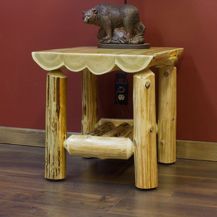 The Cedar Lake Half Log End Table Is Perfect For Your Log Cabin, Rustic  Lodge, Or Country Cottage Bedroom Retreat. Visit Us Online Or Call For More  Rustic ...