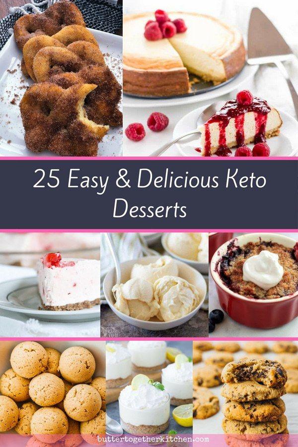 25 Easy And Quick Keto Desserts To Make Keto Ketodesserts