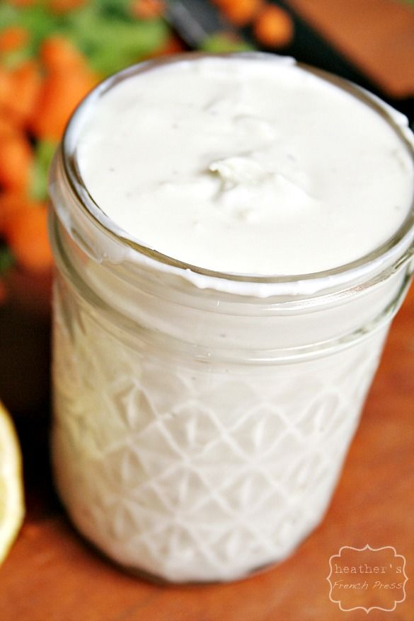 better for you {Greek yogurt} Blue Cheese Dressing - Heather's French Press