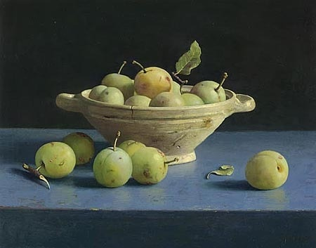 Henk Helmantel - still life with plums