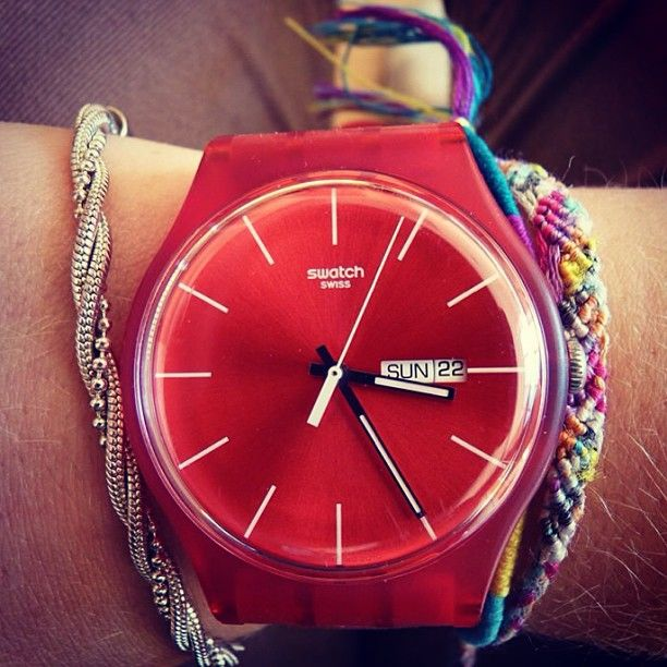 #Swatch: Women Fashion, Instagram, Watches Red, Red Swatches, Glasses Galore, Gimme Gimme, Dreams Acessories, Swatches Watches, Apolline Mlr